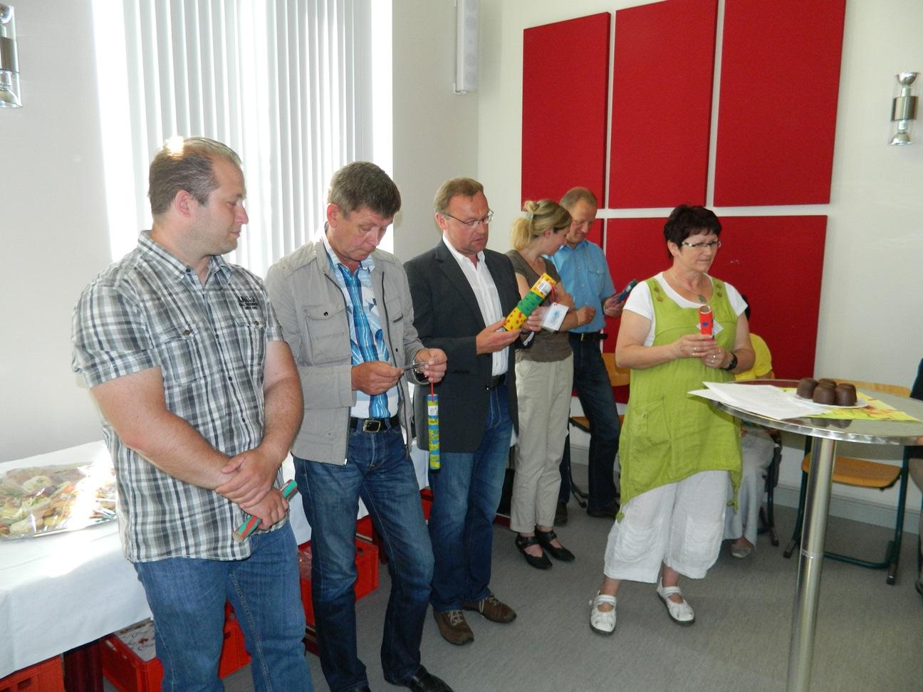 Auch Stadtvertretervorsteher Hans-Werner Heinke gehört zu den Gratulanten